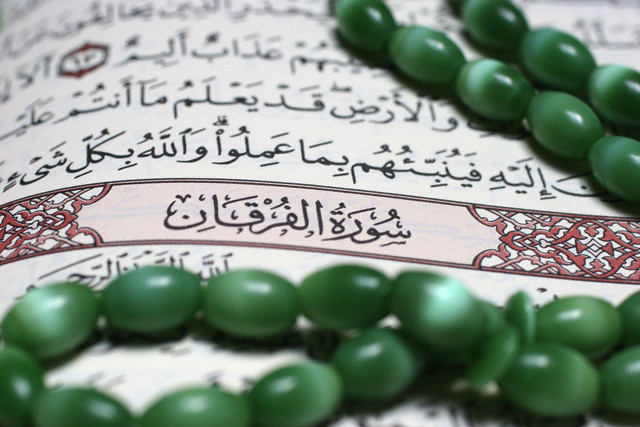 11 May 2005, Paris, France --- Koran and Prayer Beads --- Image by © Fred de Noyelle/Godong/Corbis