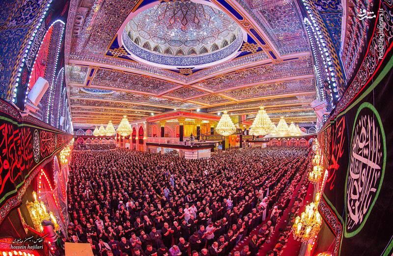 تصویری زیبا از صحن حرم حضرت عباس(ع)