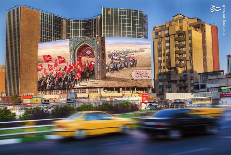 دیوارنگاره اربعینی میدان ولیعصر(عج)