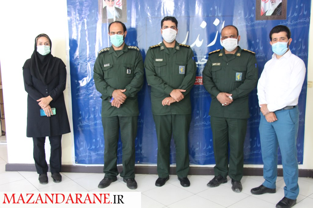 حضور فرمانده سپاه ناحیه آمل در پایگاه خبری تحلیلی مازندرانه