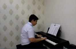 ساخت آهنگی برای پرستاران توسط هنرمند 13 ساله آملی
