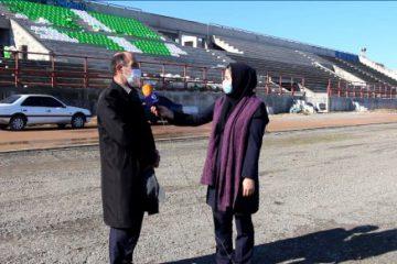 گزارش مازندرانه از روند آماده سازی ورزشگاه شهید چمران آمل