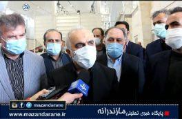 وزیر اقتصاد از شهرک صنعتی و پایانه صادرات برنج ایران در آمل بازدید کرد